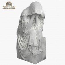 Скульптура ангела из мрамора №110 — ritualum.ru