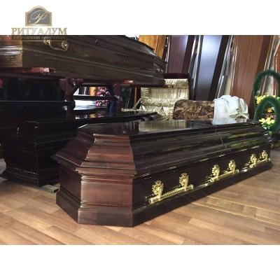 Гроб двухкрышечный Элит — ritualum.ru