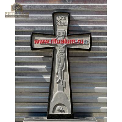 Крест из гранита резной