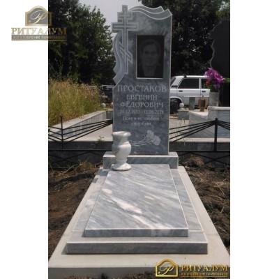 Памятник из мрамора - Крест-вуаль   PM0018 — ritualum.ru